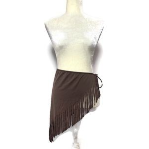 Brown sarong with fringe